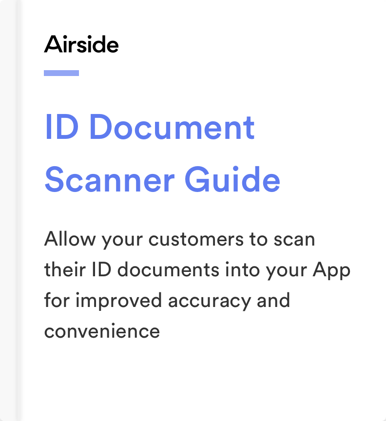 Airside Mobile ID Document Scanner Guide