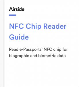 Airside Mobile NFC Chip Reader Guide