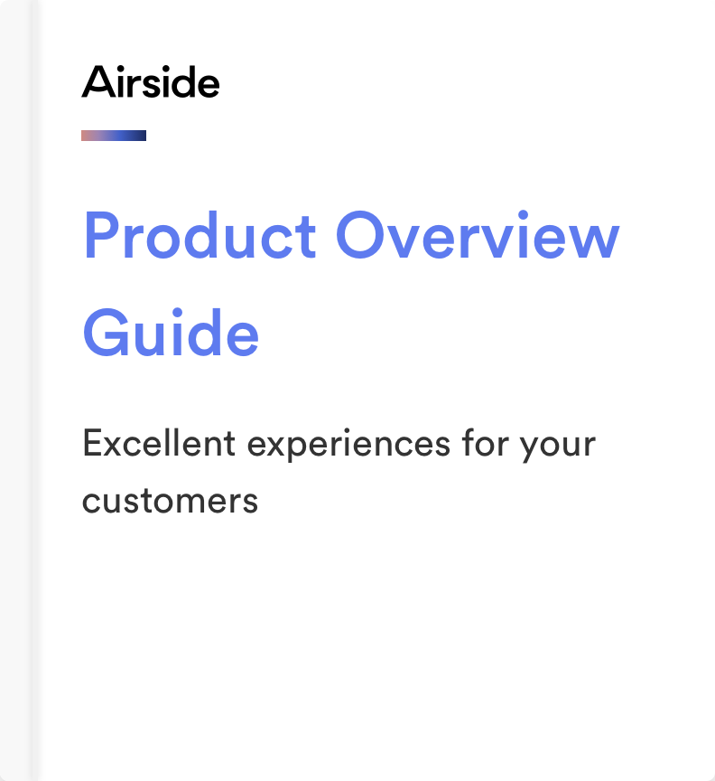 Airside Mobile Product Overview Guide