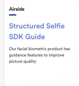Airside Mobile Structured Selfied SDK Guide