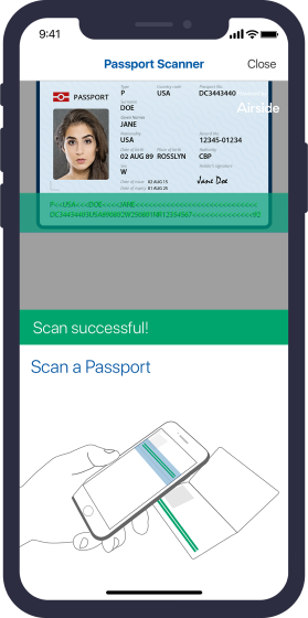 Airside Mobile ID Document Scanner Enroll identities