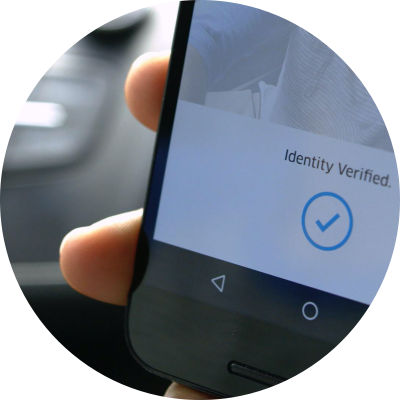 Airside mobile identity verification